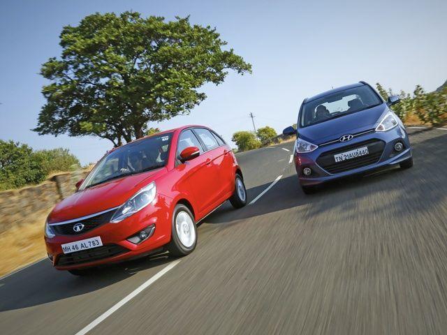 Tata Bolt Vs Hyundai Grand I Comparison Review Photo Gallery