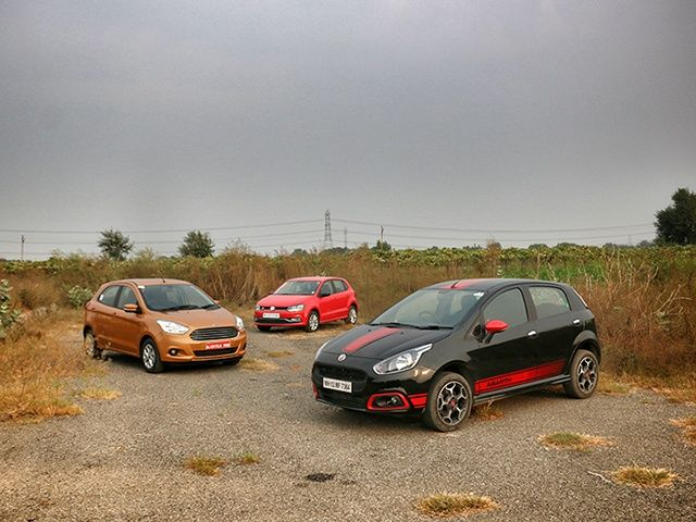 Abarth Punto vs Polo TSI vs Figo 1.5