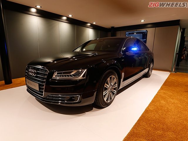 2016 Auto Expo: Audi A8L Security Photo Gallery