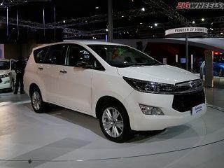 2016 Auto Expo: Toyota Innova Crysta Photo Gallery