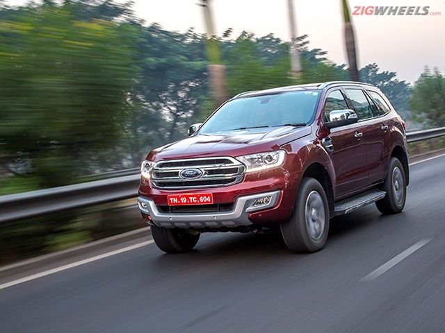 2016 Ford Endeavour front tracking