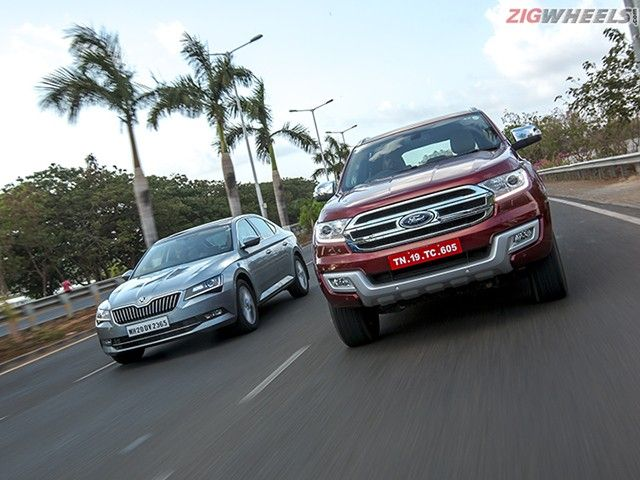 Skoda Superb vs Ford Endeavour: Comparison Photo Gallery