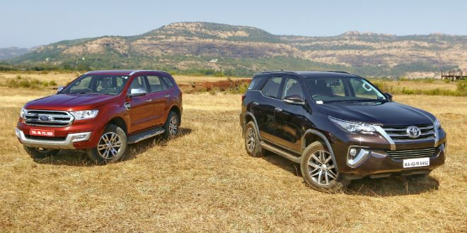 Ford Endeavour vs Toyota Fortuner: Comparison Video Review