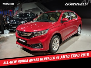 Honda Amaze At Auto Expo 2018:First Look