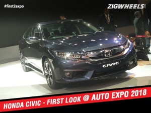 2018 Honda Civic At Auto Expo 2018:First Look