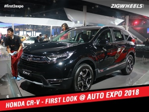 Honda CR-V At Auto Expo 2018:First Look