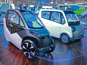 Mahindra EVs - Udo, Atom, e-KUV, e2o NXT At Auto Expo 2018: First Look