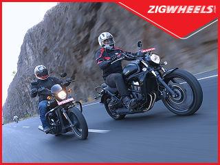 Kawasaki Vulcan S vs Harley-Davidson Street 750 Team ZigWheels