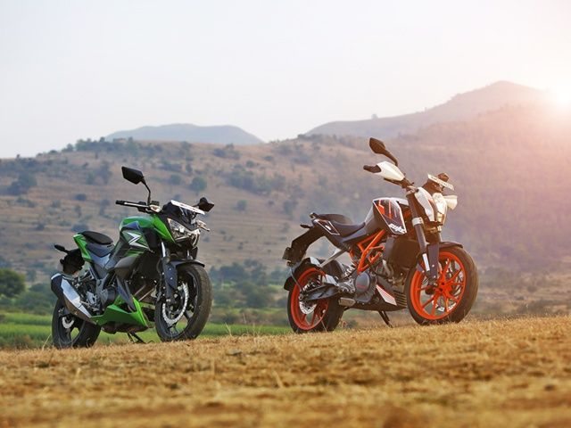 KTM 390 Duke Kawasaki Z250 Wallpaper